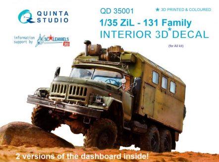 QD35001 3D Декаль интерьера кабины для семейства ЗиЛ-131 (для любых моделей)