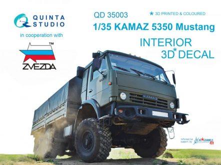 QD35003 3D Декаль интерьера кабины для семейства КАМАЗ 5350 Мустанг (для модели Звезда)