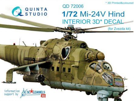 QD72006 3D Декаль интерьера кабины Ми-24В (для модели Звезда)