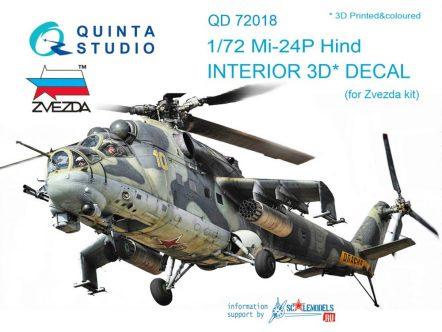 QD72018 3D Декаль интерьера кабины Ми-24П (для модели Звезда)